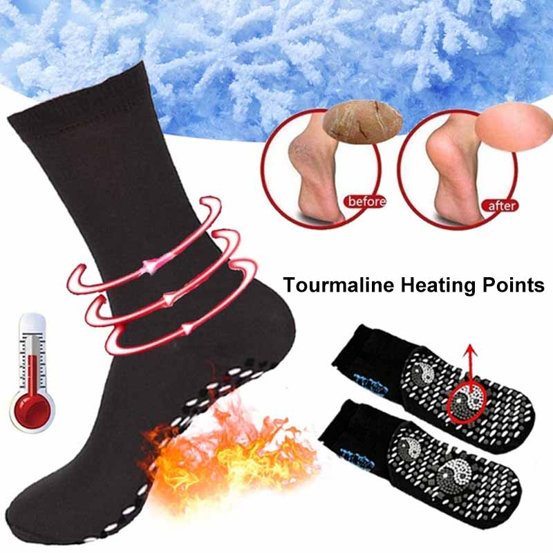 Self-Heating Health Care Socks Tourmaline Magnetic Therapy Comfortable And Breathable Massager Winter Warm Foot Care Socks