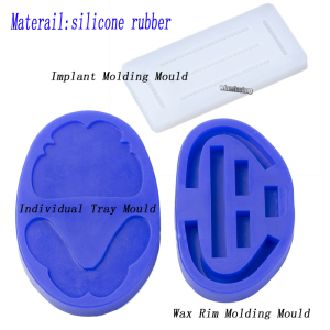 Image 5 - Dental silicone rubber wax rim slim long shape bite block individual tray implant molding mould