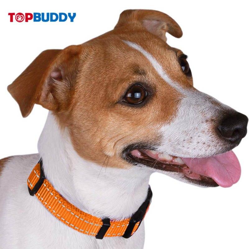 Collardirect Adjustable Reflective Dog Neck Ring Safe Nylon Collar Dog Traction Rope Buckle Colorful For You Choose