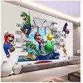 Мультфильм Марио, детские комнаты, настенные Стикеры, наклейки для детской комнаты, домашний декор, росписи для мальчика, спальни, гостиной, ...