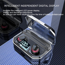 Wireless Bluetooth Headset HiFi Touch Button 5.0 Intelligent Noise Reduction Waterproof Charging Bin Digital Display
