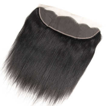 Beauty Grace Bundles With Frontal 3 Bundle Non-Remy 13x4 Frontal Closure Peruvian Straight Human Hair Weave Bundles With Closure