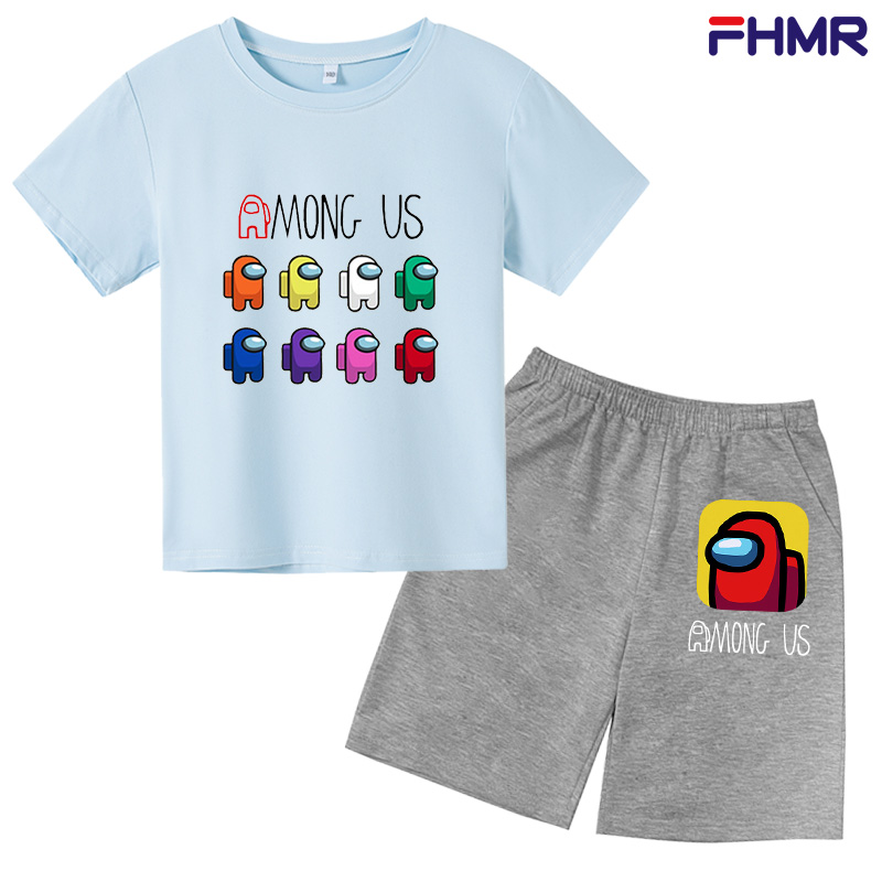 Summer Children Boys Girls Clothes Kids Cartoon Clothing Infant Suit Toddler T-Shirt Pants Set Baby Casual Tracksuit 0-14 Years