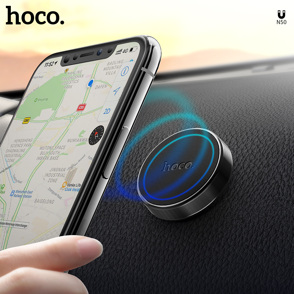 HOCO Universal Magnetic Car Phone Holder In Car Dashboard Magnetic Holder Mobile Phone GPS PDA Mount Magnet Stand For IPhone XS