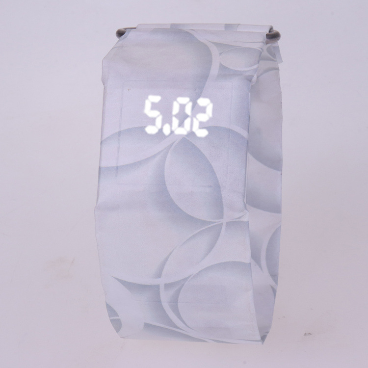 2020 Trendy DIGITAL LED Watch Paper Water/Tear Resistant Watch Perfect Gift 15 7