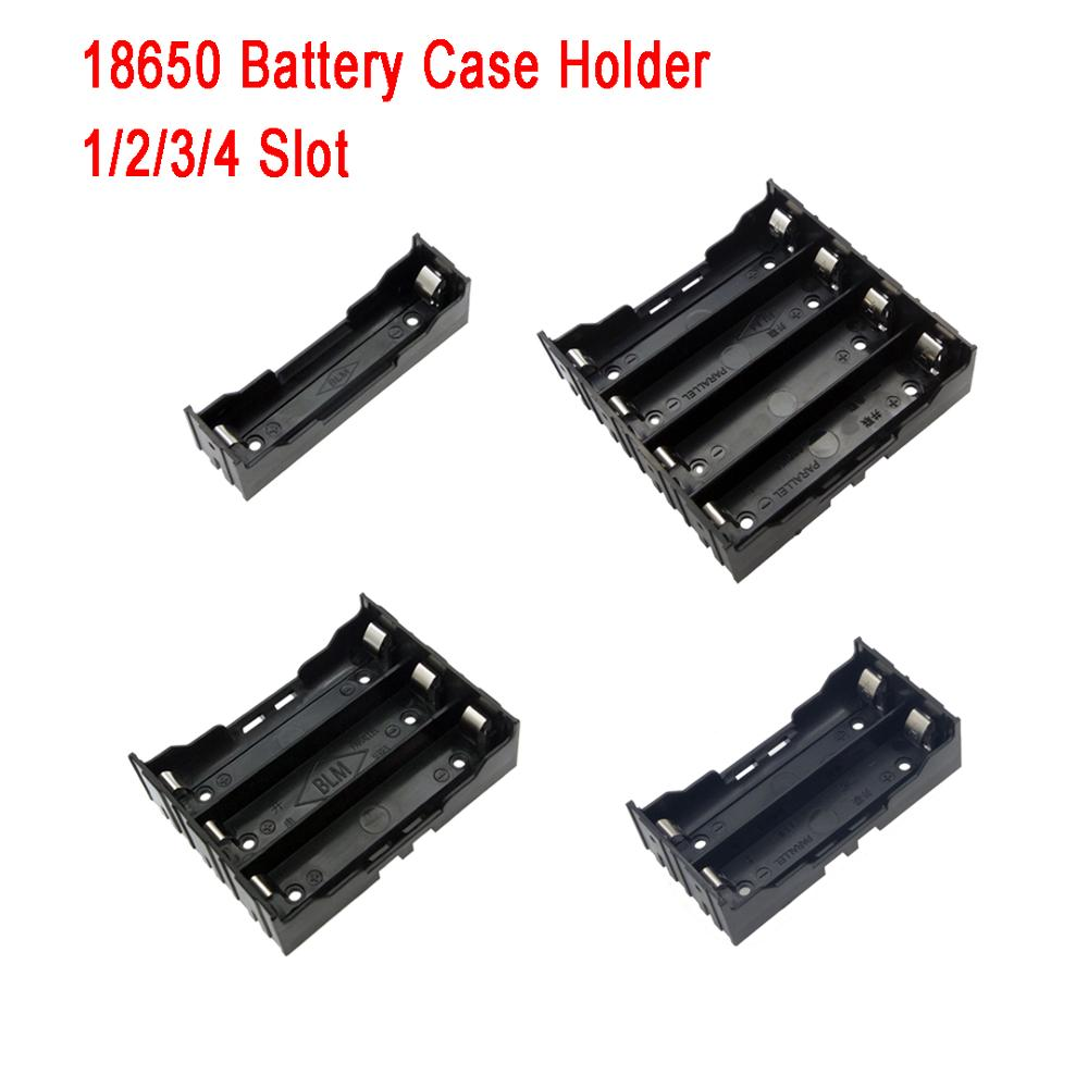1 Pcs 1/2/3/4 Section Plastic Battery Case Holder Storage Box For 18650 Rechargeable title=