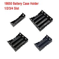 1 Pcs 1/2/3/4 Section Plastic Battery Case Holder Storage Box For 18650 Rechargeable Battery 3.7V DIY Battery Storage Boxes     -