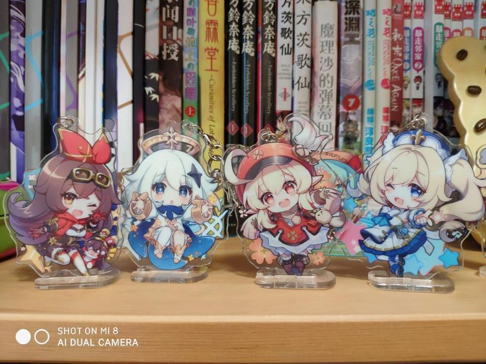 Genshin Impact Paimon,Lisa,Klee,Xiao,Keqing /& More Acrylic Stand Figure Gift