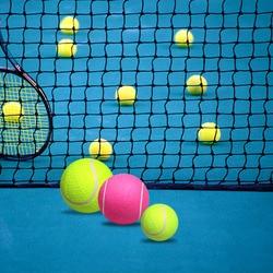 Nuovo 8 pollici Gonfiabile Palla Da Tennis Training Indoor Outdoor Pratica Durevole Palla Da Tennis per I Bambini di Età I Principianti Pet Fun