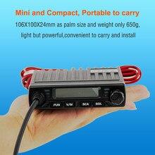 Mini rádio móvel retevis rt98 uhf (ou vhf) 15w 199ch carro walkie talkie presunto rádio lcd rádio do carro transceptor com microfone alto-falante