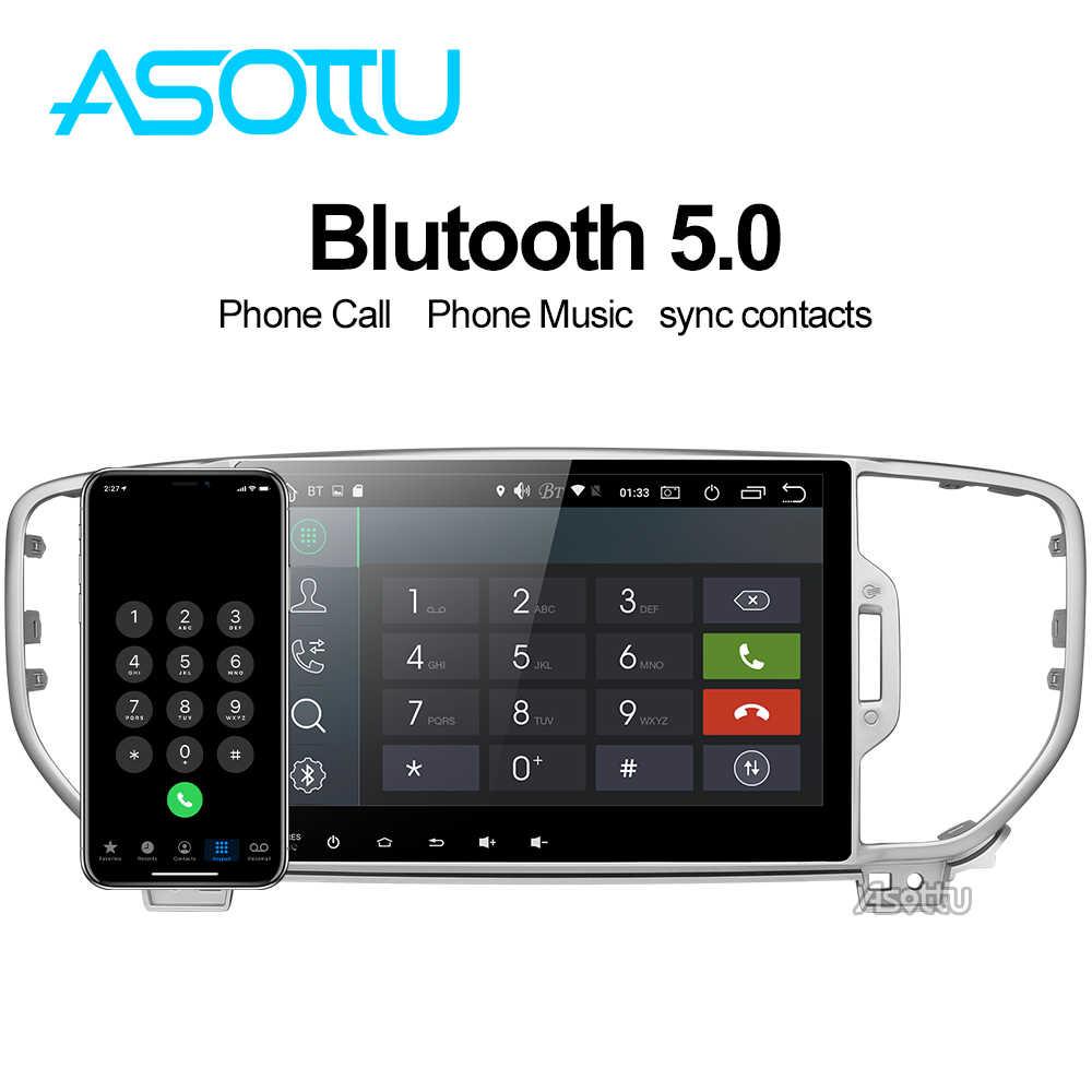 Asottu ki605 ips android 9.0 px6 carro dvd para kia sportage 4 ql 2016 2017 2018 navegação gps 1 din unidade de cabeça estéreo do carro