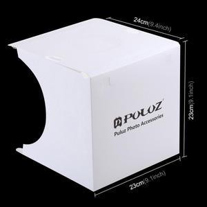 Image 2 - PULUZ Luz LED Mini 22,5 para fotografía, sin sombras, cojín de Panel + 2 paneles LED, caja de luz de 20CM para tienda de estudio fotográfico