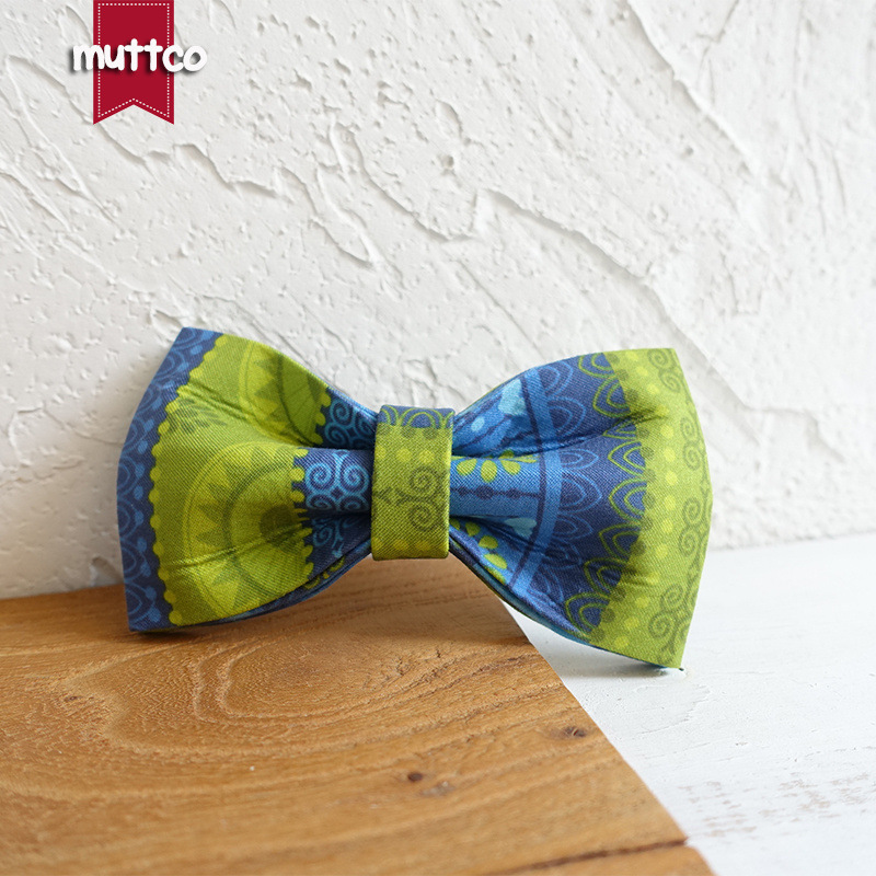 Muttco Dog Bow Tie Double Layer Durable Dog Pet Bow Accessories Ubt-024