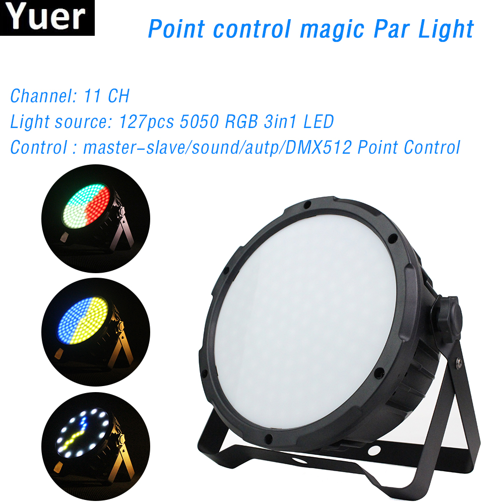 127X0.5W SMD 5050 RGB 3IN1 LED Point Control Par Light DMX 512 Professional DJ Disco Stage Effect Lighting For Club Party Bar