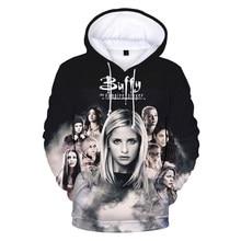 Buffy the vampire slayer 3d impressão moletom com capuz moletom moda masculina casual hip hop pulôver harajuku streetwear hoodies