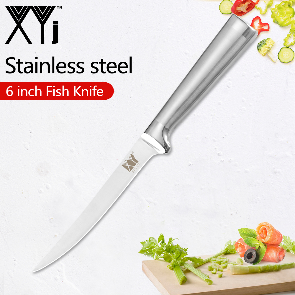 XYj 6 Inch Professional Fillet Knife Stainless Steel Blade And Handle Fishing Fillet Knife Ultra Sharp Fish Deboning Knife Tools