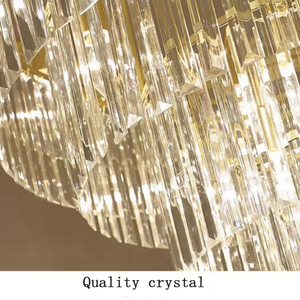 Image 5 - jmmxiuz Modern round golden chandelier crystal lighting restaurant American crystal lamp chandelier