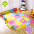 Week Eight Foam Floor Pad Infant Child Cartoon Jigsaw Puzzle Fence Baby Game Crawl Pad Thick Joint Climb Coaster