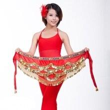 цены Belly Dance Fringe Skirt Dancing Waist Chain Hip Scarf Coin Belt Wrap Waist Sash 233-124