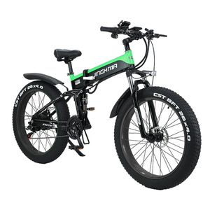 26 inch 500W 48V folding smart electric bicycle double cross country fat tire electric bicycle