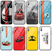 Drift Cars Auto JDM Tempered Glass Mobile Phone Accessories Cases for i