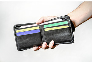 Image 2 - PNDME high quality soft genuine leather mens short wallet casual simple youth full cowhide thin credit card holder black purse