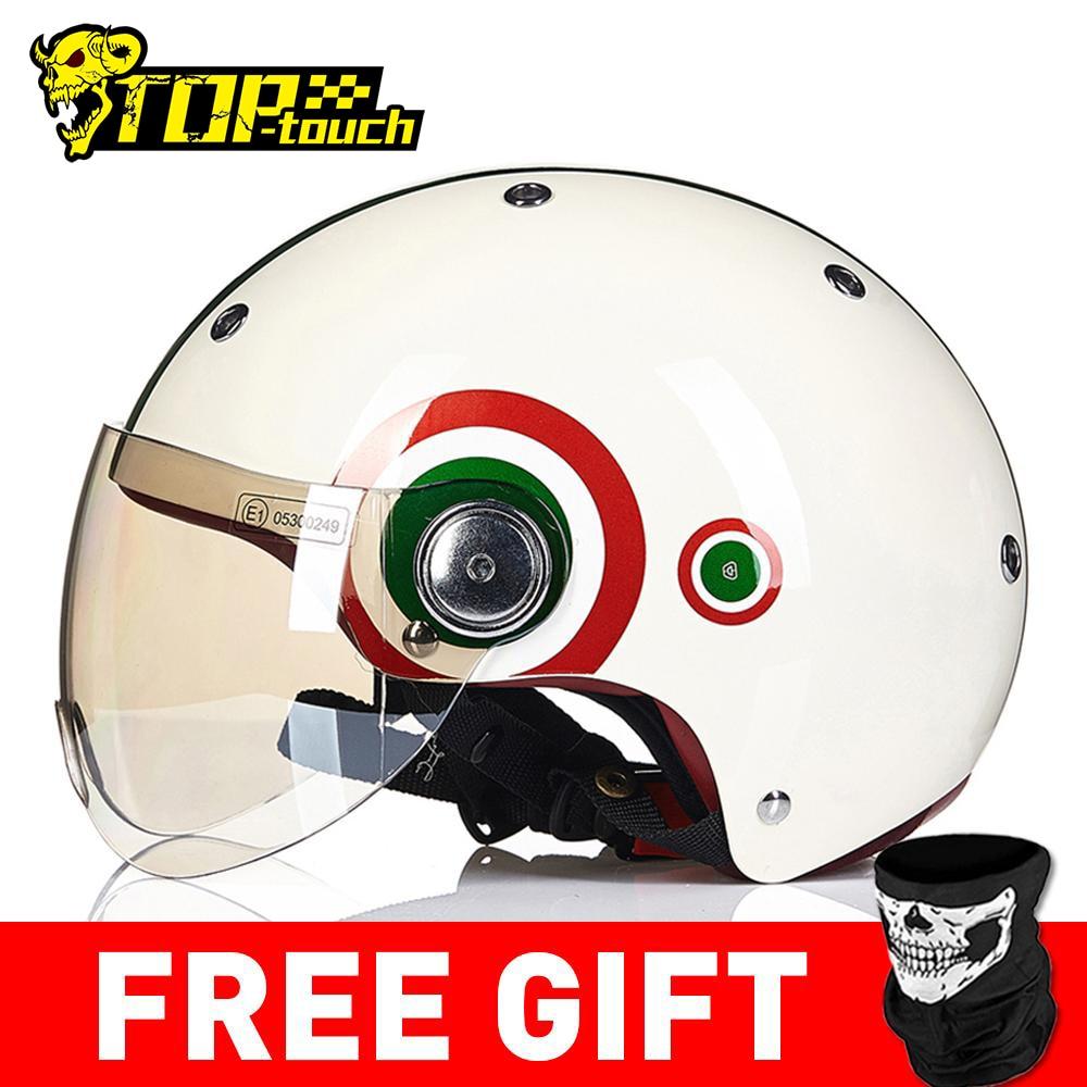 BEON Casco Helmet Moto Motocross-Moto Half-Face Crash Men Women
