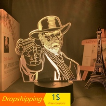 3d-Lamp Nightlight Dead-Redemption Game-Room Arthur RDR2 Decor Acrylic Morgan-Figure