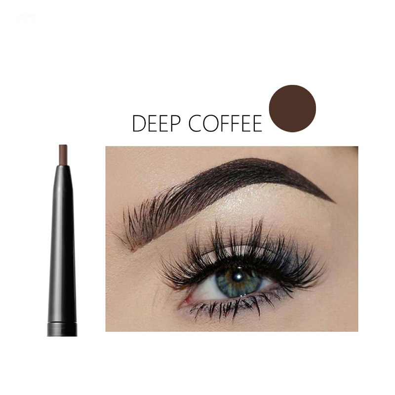 Hot Sale Double Ended Super Slim <font><b>Eyebrow</b></font> Pencil & <font><b>Eyebrow</b></font> Brush Waterproof Long Lasting Black Brown <font><b>Eyebrow</b></font> <font><b>Tatoo</b></font> <font><b>Pen</b></font> Cosmetics image