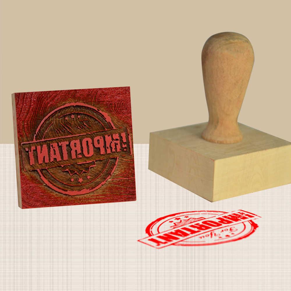 สแควร์ไม้ส่วนบุคคลแสตมป์ปรับแต่งรูปแบบโลโก้บัญชีแสตมป์หนังสือสำหรับห้องสมุดร้านหนังสือพิมพ์ Shop