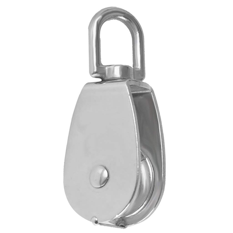 Lifting Pulley Stainless Steel Single Swivel Rope - 100mm