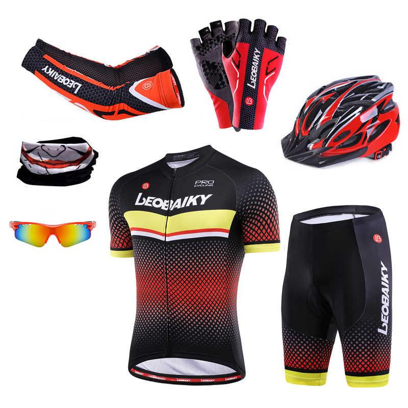 Ubrania do jazdy rowerem mężczyźni zestawy rowerowe lato z krótkim rękawem odzież sportowa strój męski zestaw koszulek Mtb Pro Team Mountain odzież rowerowa kobiety