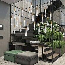 Modern Crystal Lighting Creative Gold Water drop Lamps European-style LED Chandeliers Restaurant Indoor Luxury Light Fixtures
