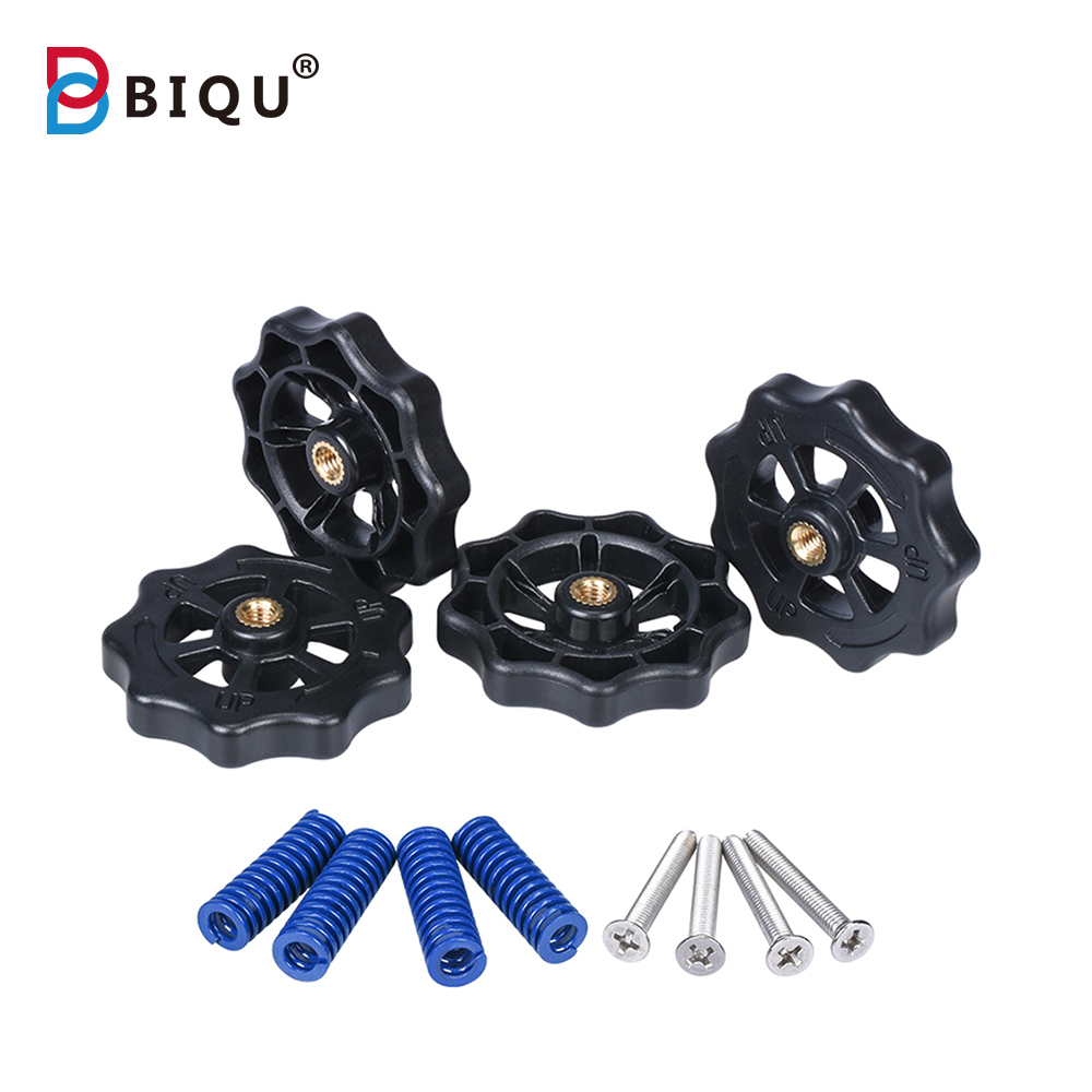 3D Printer Parts Big Hand Twist Auto Leveling Nuts With Spring Kits Upgraded For Heated Bed MK3 CR-10 Ender 3 3D Printer