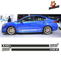 Side Racing Stripes 023 Decals Stickers Graphics Car Stickers and Decals Car Accessories FOR Subaru Impreza STi