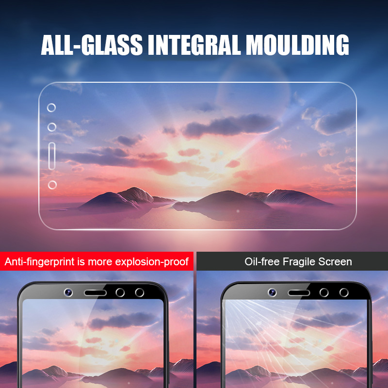 Image 2 - 3Pcs Screen Protector Tempered Glass on For Xiaomi Redmi Note 5 7 8 6 Pro 5A 6 For Redmi 5 Plus 5A 6A Full Protective Glass Film-in Phone Screen Protectors from Cellphones & Telecommunications