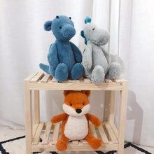 Новая Милая креативная имитация лисы динозавра плюшевая игрушка