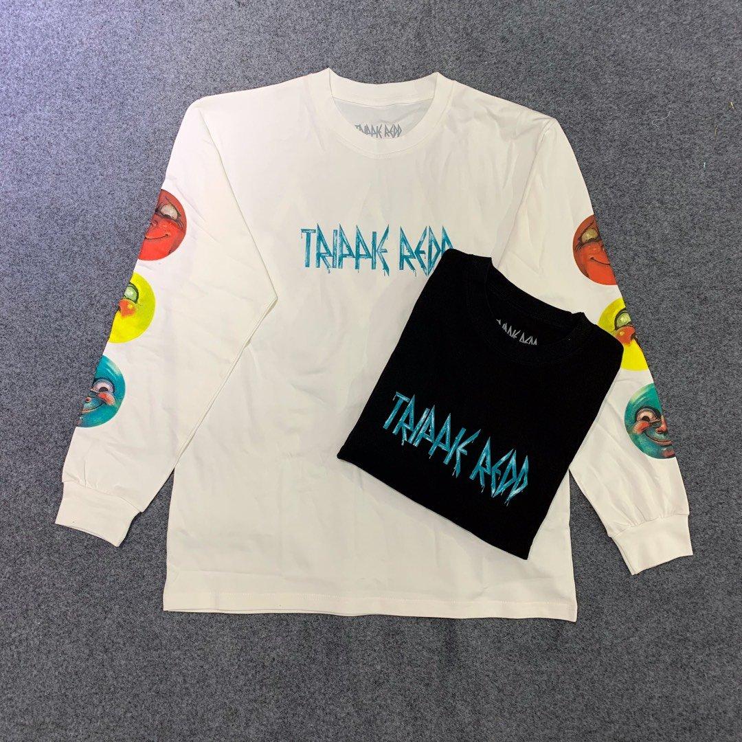 Trippie Redd T Shirt Long Sleeves100% Cotton1400 Life's A Trip Limited Merch Streetwear Hip Hop Kanye West Tripple Redd Top Tees