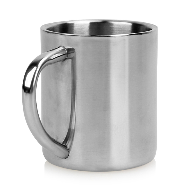 220ml Stainless Steel Mug Student Double Wall Mugs Travel Tumbler Coffee Tea Mugs Drinkware Handle Travel Cups 4