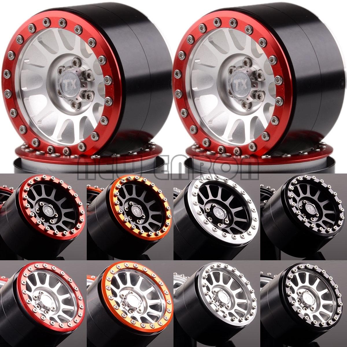 "NEW ENRON 4P 2.2"" Metal 12 Spokes Beadlock Wheels Rims hub For Axial SCX10 SCX10 II 90046 90047 RR10 Wraith YETI 90056 90053(China)"