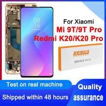 100% testado 6.39 oled oled display oled para xiaomi mi 9t pro lcd tela de toque digitador assembléia para redmi k20 pro m1903f11g modelo