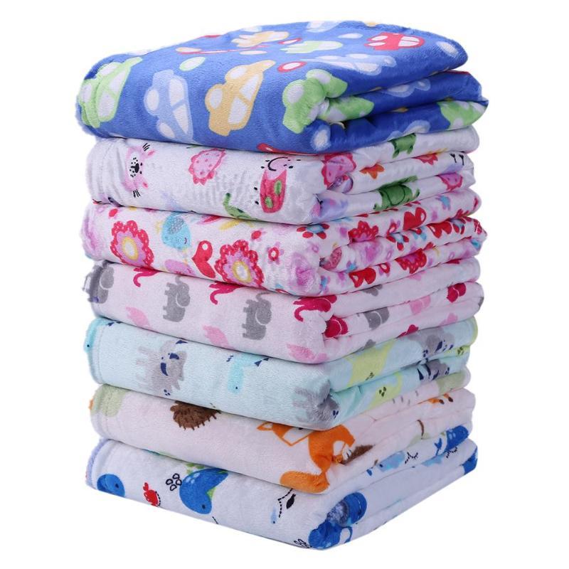 Baby Blanket Newborn Swaddle Wrap Soft Fleece Stroller Cover Infant Bedding Winter Blanket Kids Keep Warmer Bedding Props