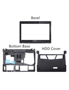 Image 1 - Neue Original Für Lenovo Y400 Y400N Y410P Y430P LCD Front Rahmen Lünette Bottom Basis Bottom HDD Ram Abdeckung