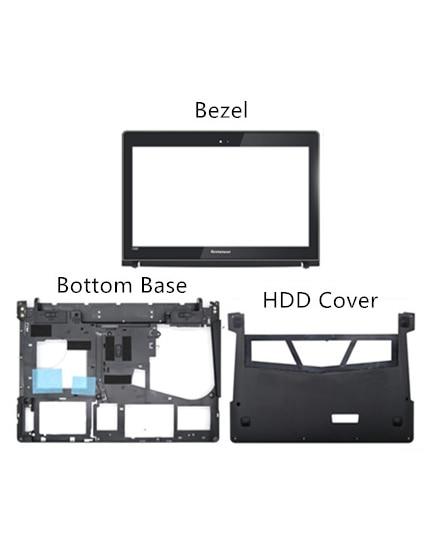 Neue Original Für Lenovo Y400 Y400N Y410P Y430P LCD Front Rahmen Lünette Bottom Basis Bottom HDD Ram Abdeckung