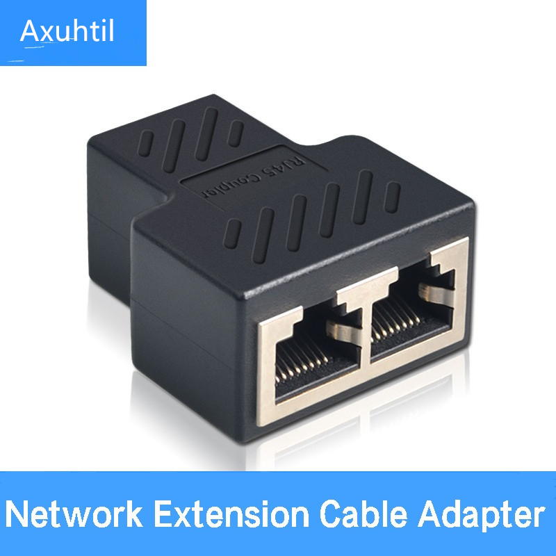 1 To 2 Ways LAN Ethernet Network Cable RJ45 Female Splitter Connector Adapter Splitter Extender Plug Adapter Connector