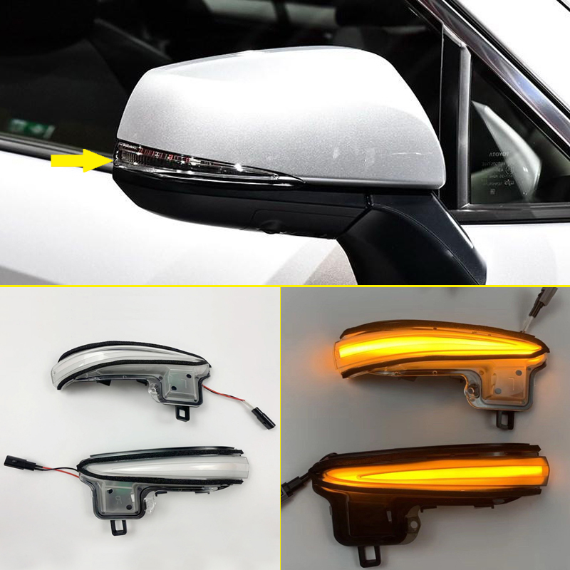 Динамический сигнальный светодиод Поворота Боковой индикатор для зеркала мигалка для Toyota RAV4 XA50 2019 2020/для Марка Toyota Tacoma 2016 2019