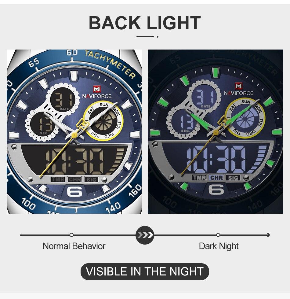 NAVIFORCE 9188 Steel Watch 8