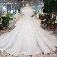 HTL163G Especial vestidos de casamento como branco puro novo fora do ombro ata acima para trás o vestido de casamento de luxo 2019 nova moda projeto