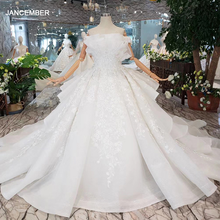 HTL163G Special wedding dresses like white pure new off the shoulder lace up back luxury wedding gown 2020 new fashion design