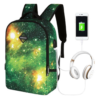 Men Backpack UBS Boys Girls Casual Bag School University Fashion Nebula  Printing Unisex Versatile bag